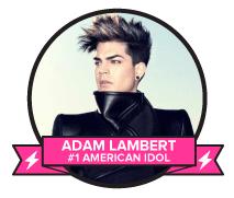 Vote Adam Lambert – TV's Greatest Music Star of All-Time!