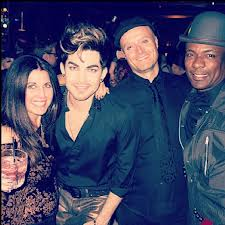Adam Lambert celebrating his birthday at Bootsy Bellows. photo courtesy socialitelife.com