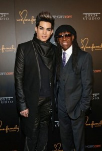 Adam Lambert and Nile Nodgers