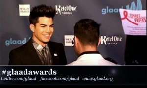 Adam Lambert Receives GLAAD Media Award!! VIDEO!!