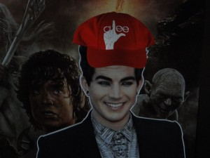 Flat Addy Friday: Adam Lambert Takes a GLEEful Pause as a Lord of the Ring of Fire!