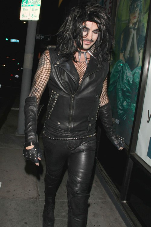 Halloween black leather full walking