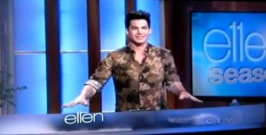 "Adam Lambert Jokes on Ellen ""I Wanna Tie You Up!"""