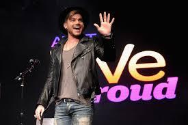 Adam Lambert Performs at AT&T's Live Proud Finale in New York