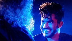 Adam grinning at Brian no BBC
