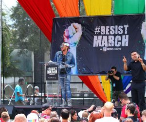 Adam Lambert Delivers Dynamic Speech at LA's Resist March